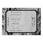 Black Rose Gothic Frame Wedding Save the Date