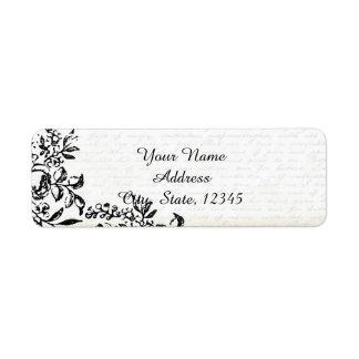 Vintage Black Letter Labels Amp Address Return Address