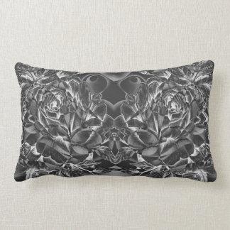 Black Rose Lumbar Pillow