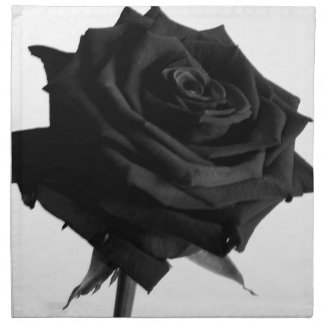 Black rose napkin