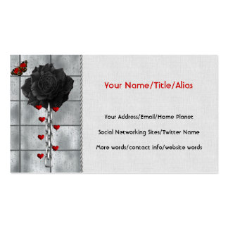 Black Rose Of Love Double-Sided Standard Business Cards (Pack Of 100)