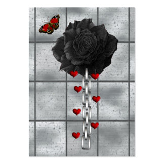 Black Rose Of Love Large Business Cards (Pack Of 100)