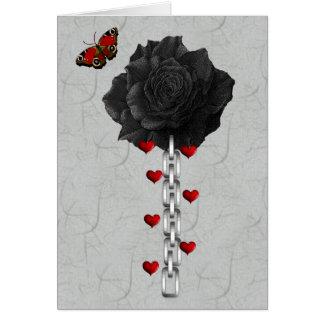 Black Rose Of Love Card