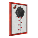 Black Rose Of Love Gallery Wrapped Canvas