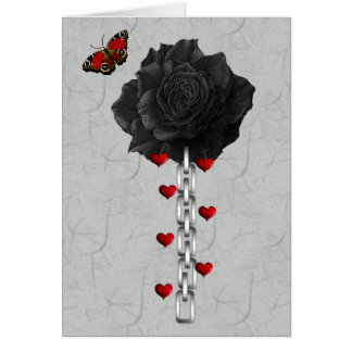 Black Rose Of Love Note Card