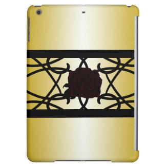Black Rose Ornate Elegant Golden Goth CricketDiane