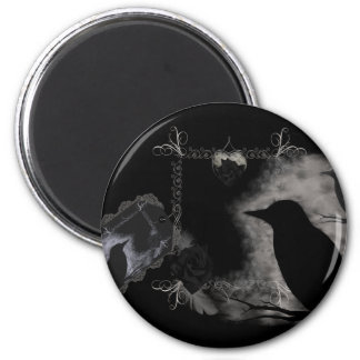 Black Rose Ravens Magnet