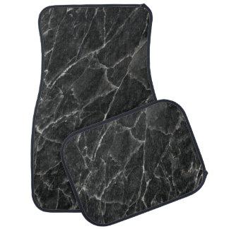 Black Rose Stone Pattern Background Car Mat