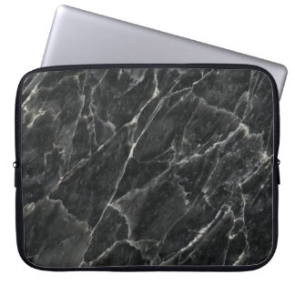 Black Rose Stone Pattern Background Computer Sleeves