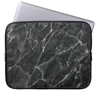 Black Rose Stone Pattern Background Laptop Sleeve