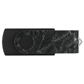 Black Rose Stone Pattern Background USB Flash Drive