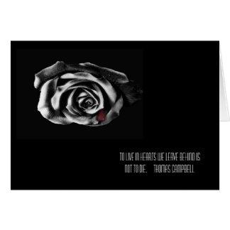 Black rose Sympathy cards