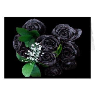 BLACK ROSES CARD