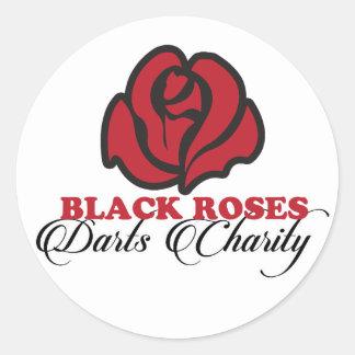 Black Roses darts Charity sticker