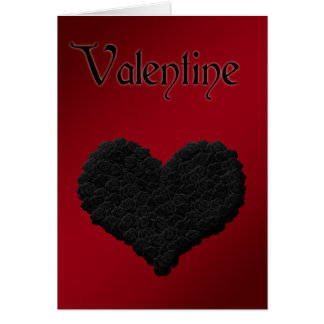 Black Roses Loveheart Gothic Style Valentines Card