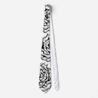 Black Roses Unique Design Tie