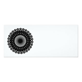 Black Round Lace Style Pattern. Card