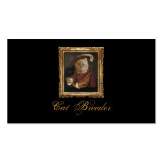 Black Royal Cat Breeder Prince Kitty Card Pack Of Standard Business Cards