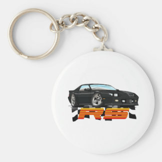Black_RS_3G Basic Round Button Key Ring
