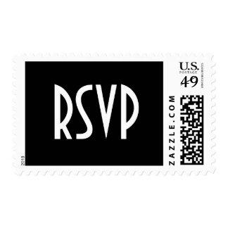 Black RSVP Postage