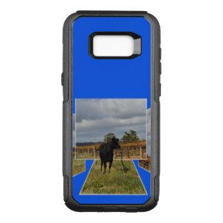 Black Runaway Cow Dimensional Art Frames, OtterBox Commuter Samsung Galaxy S8+ Case