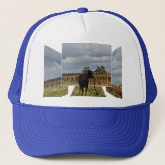 Black Runaway Cow Dimensional Art Frames, Trucker Hat