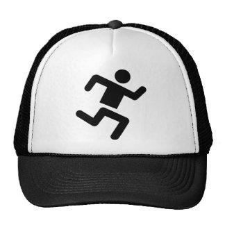 black runner athletics sprinter run hat
