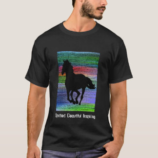 Black Running Horse T-Shirt
