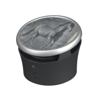 Black Running Stallion Speaker