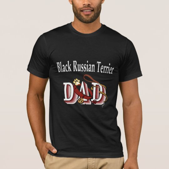 Black Russian Terrier Dad Gifts T-Shirt