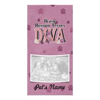 Black Russian Terrier DIVA Custom Photo Card