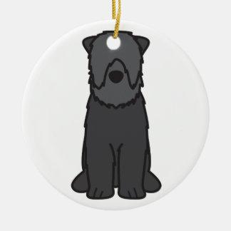 Black Russian Terrier Dog Cartoon Christmas Ornament