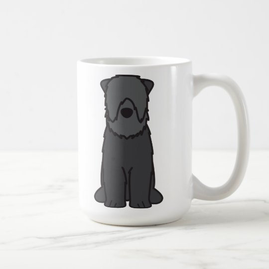 Black Russian Terrier Dog Cartoon Coffee Mug