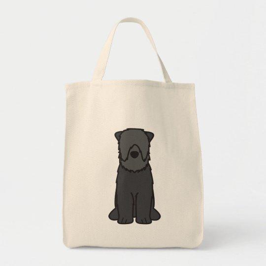 Black Russian Terrier Dog Cartoon Tote Bag