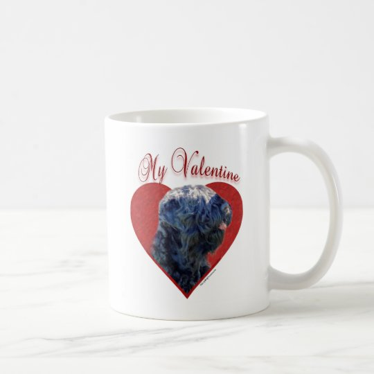Black Russian Terrier My Valentine Coffee Mug