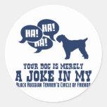 Black Russian Terrier Round Sticker