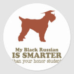 Black Russian Terrier Round Stickers