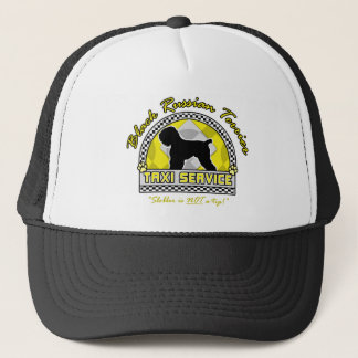 Black Russian Terrier Taxi Service Trucker Hat