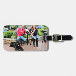 Black Russian Terrier Vader and Min Pin Elroy Bag Tag
