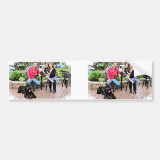 Black Russian Terrier Vader and Min Pin Elroy Car Bumper Sticker