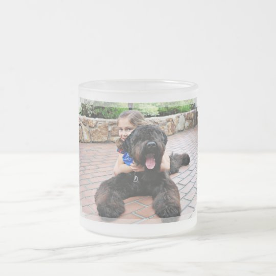 Black Russian Terrier - Vader Frosted Glass Coffee