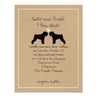 Black Russian Terriers Wedding Invitation