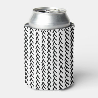 Black Rustic Tribal Pattern Can Cooler
