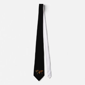 Black Rustic World Map Fashion Tie