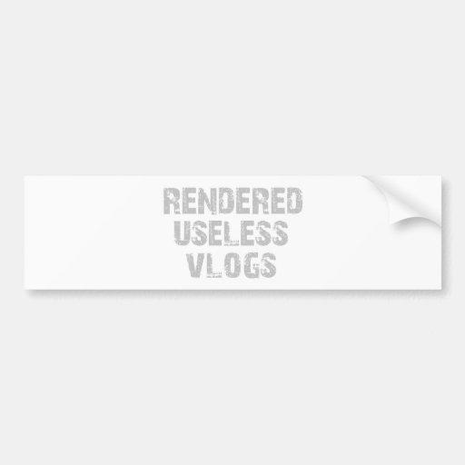 Black RUV Tee Bumper Sticker