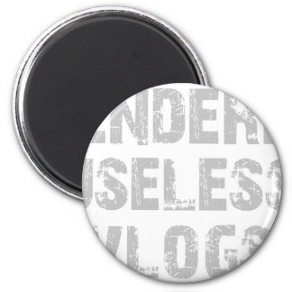 Black RUV Tee 6 Cm Round Magnet
