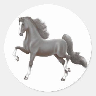 Black Saddlebred Horse Sticker