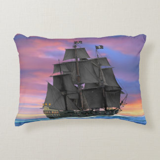Black Sails of the Seven Seas Decorative Cushion