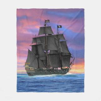 Black Sails of the Seven Seas Fleece Blanket
