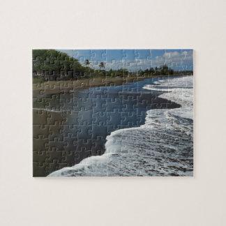 Black Sand beach at Waimea, Kauai, Hawaii Jigsaw Puzzle